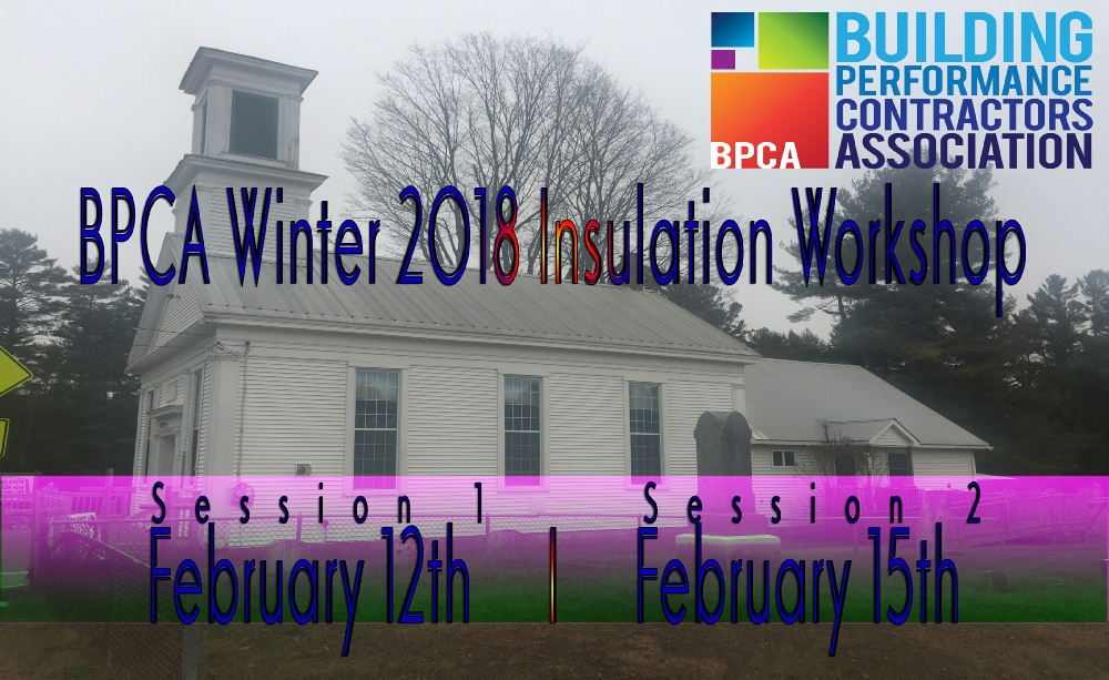 BPCA Winter 2018 Insulation Workshop