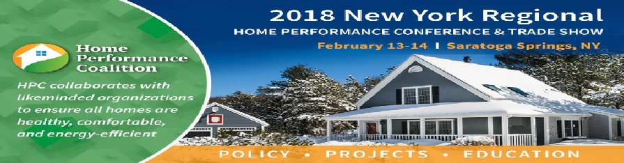 2018 New York Regional Home Performance Coalition Conference and Trade Show