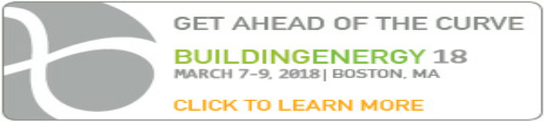 BuildingEnergy 18 Conference  in Boston