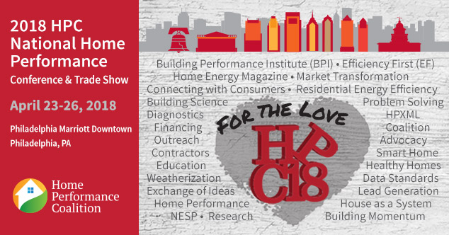 2018 Home Performance Coalition National Home Performance Conference and Trade Show